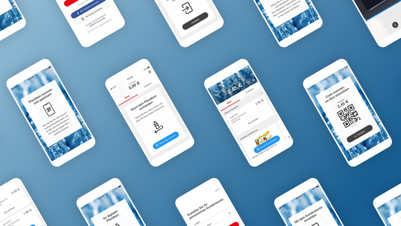 Various views of the mobile app for Kaufland