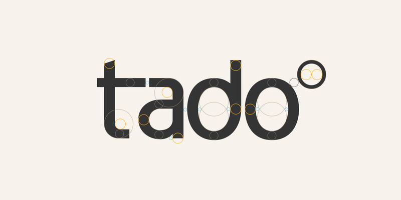 Design process of the tado° logo by PANDA