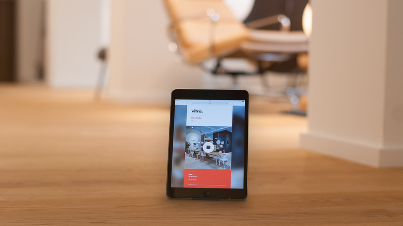 Web-Application for the instore music of Vitra